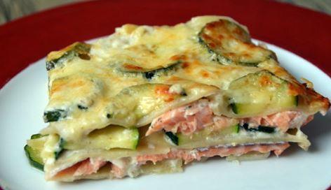 Recette légère : lasagne de courgettes & saumon